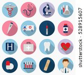 medical icons set. healthcare... | Shutterstock .eps vector #528915607