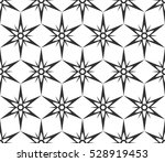 monochrome geometric seamless... | Shutterstock .eps vector #528919453