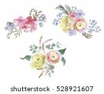hand drawn watercolor tender... | Shutterstock . vector #528921607