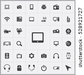 tablet icon. device icons... | Shutterstock . vector #528921727