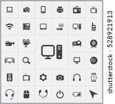 personal computer icon. device... | Shutterstock . vector #528921913