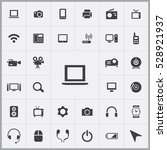 laptop icon. device icons... | Shutterstock . vector #528921937