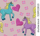 vector unicorn fantasy... | Shutterstock .eps vector #528922813