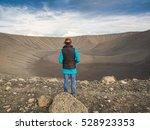 woman is standing in front of...   Shutterstock . vector #528923353