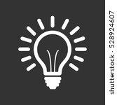 light bulb line icon vector ...   Shutterstock .eps vector #528924607