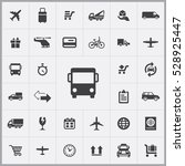 bus transport icon. delivery... | Shutterstock . vector #528925447