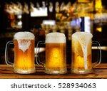 Cold Light Beer Glass Mug In A...