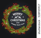 decorative christmas wreath... | Shutterstock .eps vector #528935917