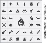 bonfire icon. camping icons... | Shutterstock . vector #528938257