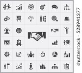 handshake icon. business... | Shutterstock . vector #528941377