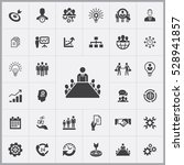 meeting icon. business planning ... | Shutterstock . vector #528941857