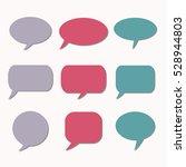 thought frame. speech bubble.... | Shutterstock .eps vector #528944803
