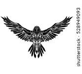 black raven | Shutterstock .eps vector #528949093