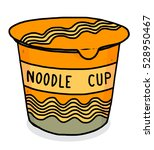 instant noodle cup package  ... | Shutterstock .eps vector #528950467
