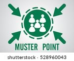muster point or emergency... | Shutterstock .eps vector #528960043