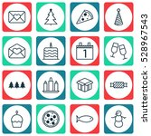 set of 16 holiday icons. can be ...