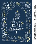joy  love  peace  believe... | Shutterstock .eps vector #528968407