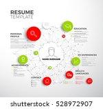 vector original minimalist cv   ... | Shutterstock .eps vector #528972907