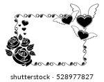 black and white silhouette...   Shutterstock .eps vector #528977827