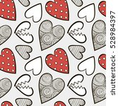 hearts seamless background | Shutterstock .eps vector #528984397