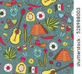 doodles seamless pattern of... | Shutterstock .eps vector #528988003