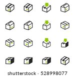 simple set of box and crates... | Shutterstock .eps vector #528998077