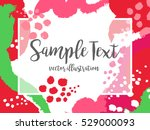 creative abstract colorful... | Shutterstock .eps vector #529000093