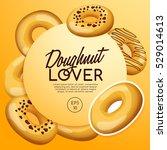 doughnut elements   vector... | Shutterstock .eps vector #529014613