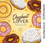 doughnut elements   vector... | Shutterstock .eps vector #529014643