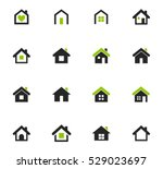 houses icon set for web sites... | Shutterstock .eps vector #529023697