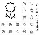 thin line ribbon sticker  badge ... | Shutterstock .eps vector #529026253