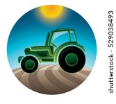 agricultural tractor in a... | Shutterstock .eps vector #529038493