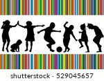 card with silhouettes of... | Shutterstock . vector #529045657