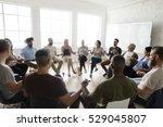 people meeting seminar office... | Shutterstock . vector #529045807