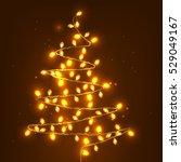 Christmas Tree Made Of Lights...