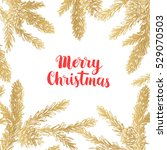 vector pinecone. christmas and... | Shutterstock .eps vector #529070503