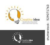template logo for creative idea.... | Shutterstock .eps vector #529071763