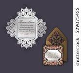 wedding invitation or greeting... | Shutterstock .eps vector #529075423