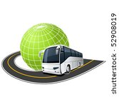 tour bus on the road around the ... | Shutterstock .eps vector #52908019