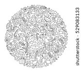 raster illustration. pattern... | Shutterstock . vector #529083133