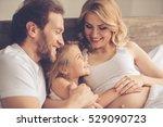 beautiful pregnant woman  her... | Shutterstock . vector #529090723