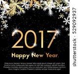 golden year 2017 with... | Shutterstock .eps vector #529092937