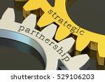 strategic partnership concept... | Shutterstock . vector #529106203