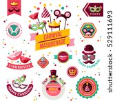 set of vintage carnival badges... | Shutterstock .eps vector #529111693