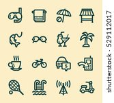 travel web icons.  vacation and ... | Shutterstock .eps vector #529112017