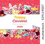 carnival concept banner with... | Shutterstock .eps vector #529119007