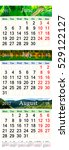 Calendar For Three Summer Mont...