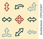 arrows mobile icon  next step... | Shutterstock .eps vector #529122367