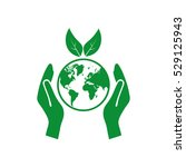 let's save the earth  vector... | Shutterstock .eps vector #529125943
