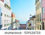 typical street in the downtown... | Shutterstock . vector #529126723